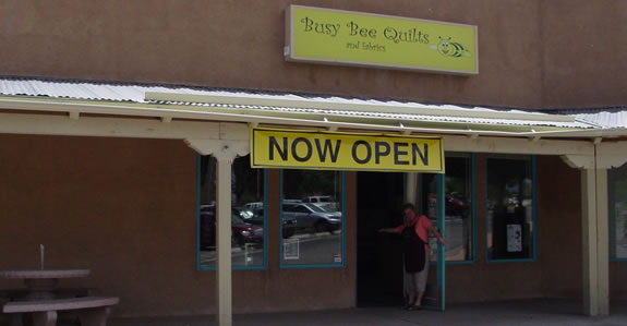 Busy Bee Quilts - located 1.5 miles north of I-40 at exit 187 in Edgewood, New Mexico just 20 miles east of Albuquerque